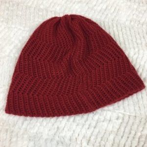 Forever 21 Red Knit Slouchy Beanie Hat Acrylic OS